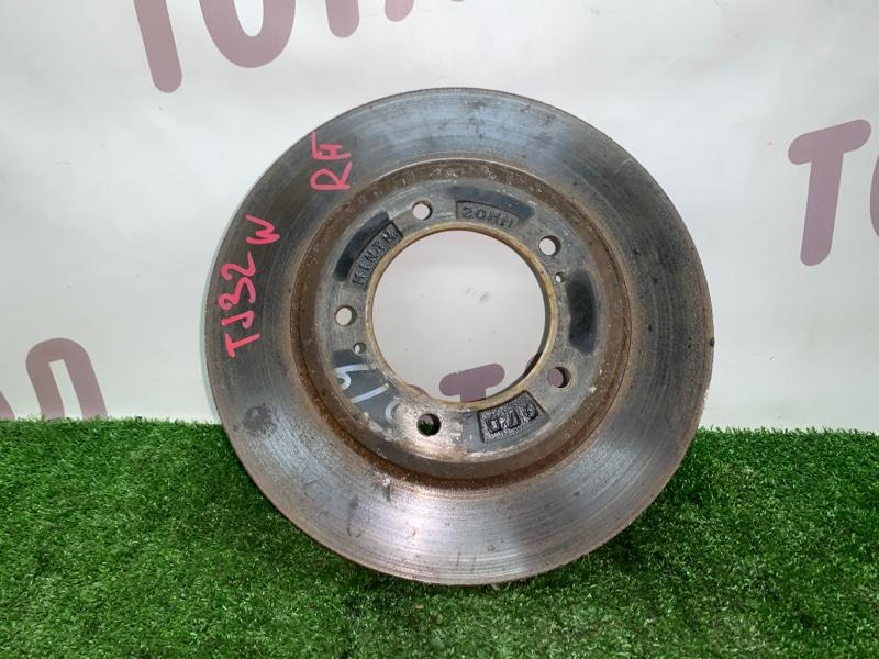 Тормозной диск Mazda Proceed Levante TJ32W RF 1998 передний правый (б/у)
