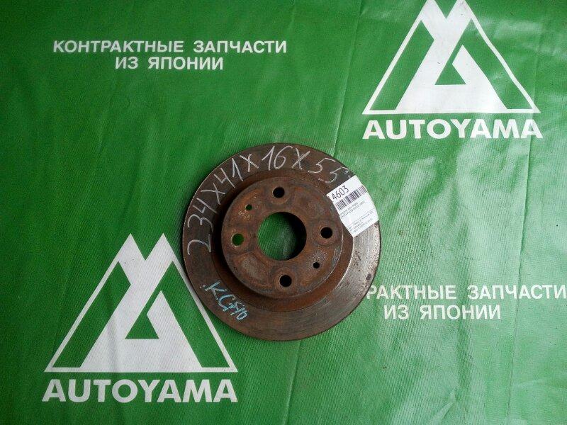 Тормозной диск Toyota Passo KGC10 1KRFE передний (б/у)