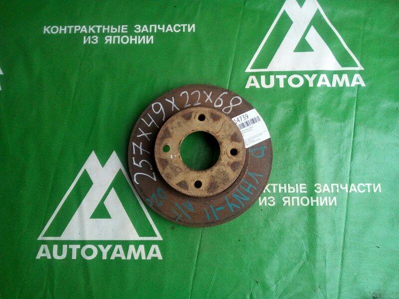 Тормозной диск Nissan Ad Y11 QG15 передний (б/у)