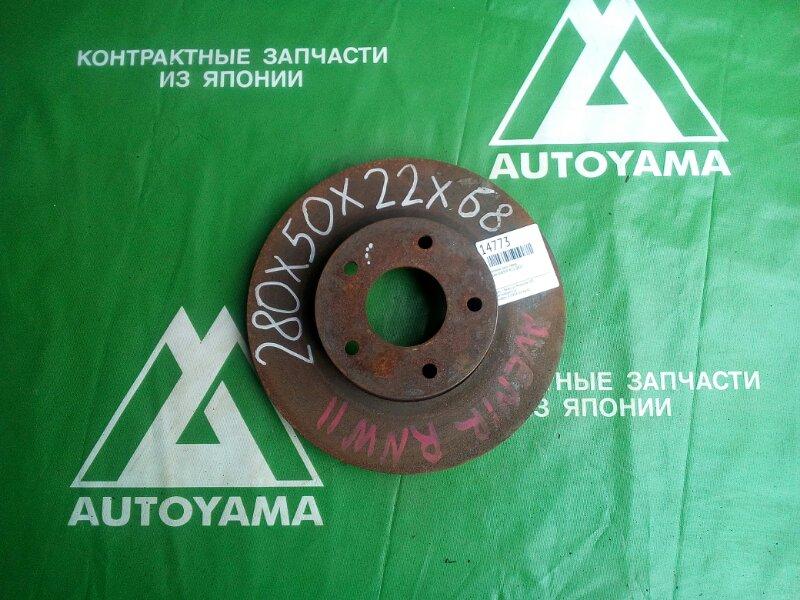 Тормозной диск Nissan Avenir W11 QR20 передний (б/у)