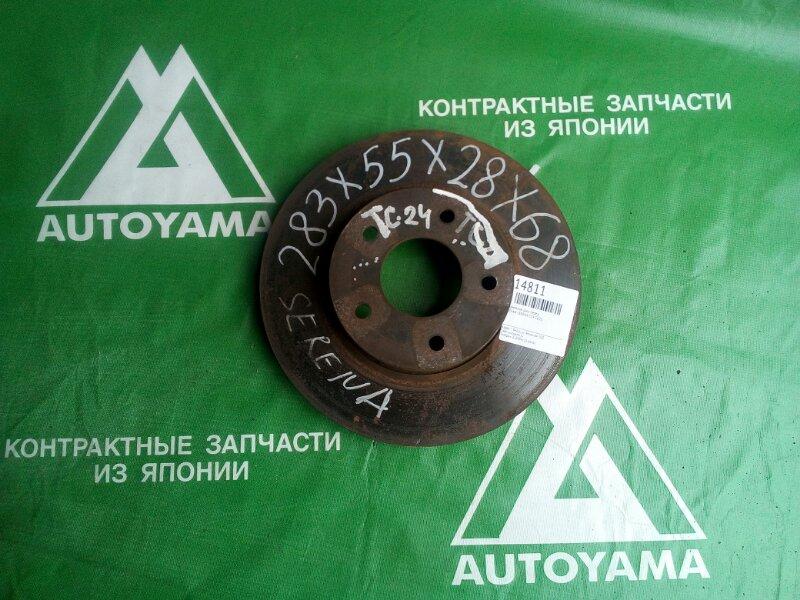 Тормозной диск Nissan Serena C24 CD20 передний (б/у)