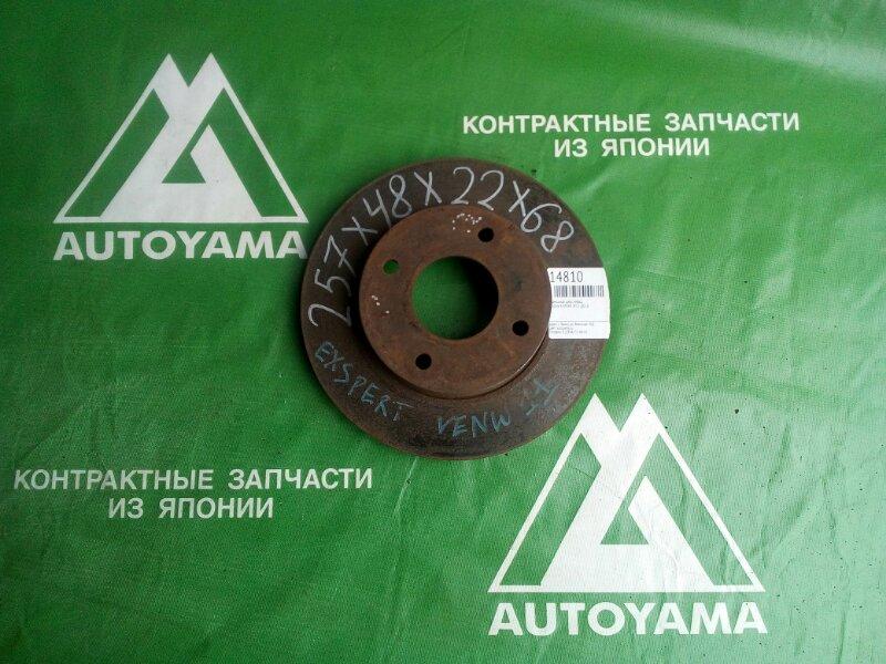 Тормозной диск Nissan Expert W11 QG18 передний (б/у)