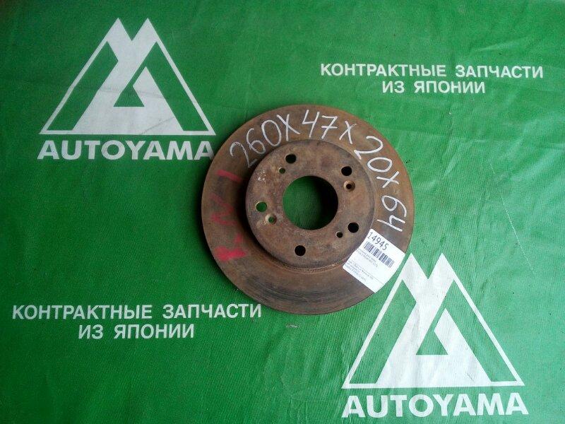 Тормозной диск Honda Stream RN1 D17A передний (б/у)