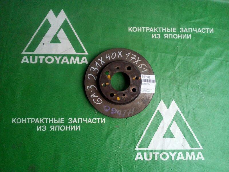 Тормозной диск Honda Logo GA3 D13B передний (б/у)