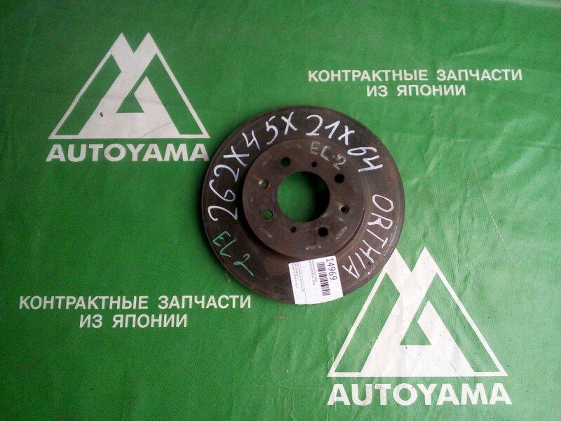 Тормозной диск Honda Orthia EL2 B20B передний (б/у)