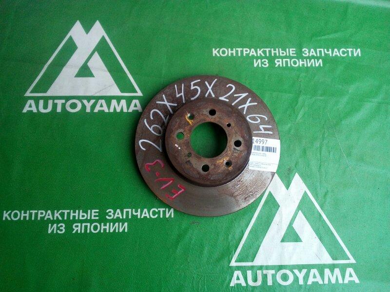 Тормозной диск Honda Civic EU3 D15B передний (б/у)