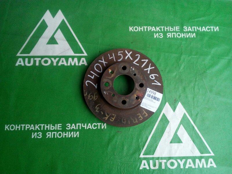 Тормозной диск Honda Civic Ferio EK3 D15B передний (б/у)