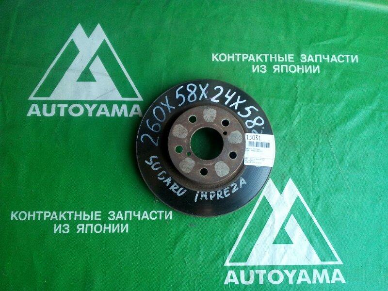 Тормозной диск Subaru Impreza GG2 EJ15 передний (б/у)