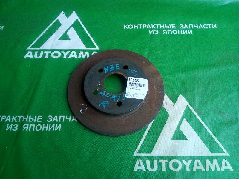 Тормозной диск Toyota Auris NZE151 1NZFE задний (б/у)