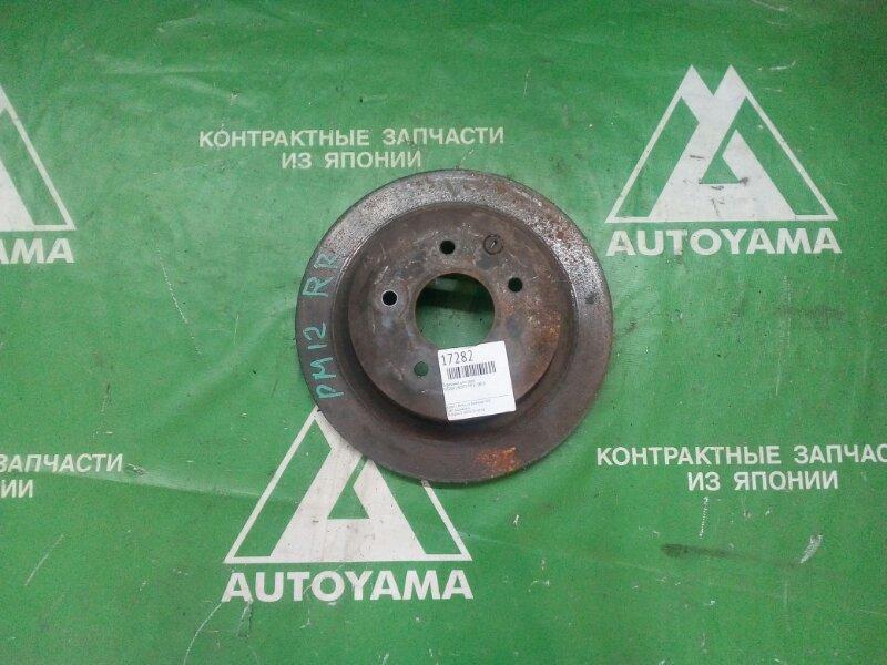 Тормозной диск Nissan Liberty PM12 QR20 задний (б/у)