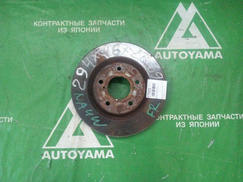 Тормозной диск Mitsubishi Grandis NA4W 4G69 передний (б/у)