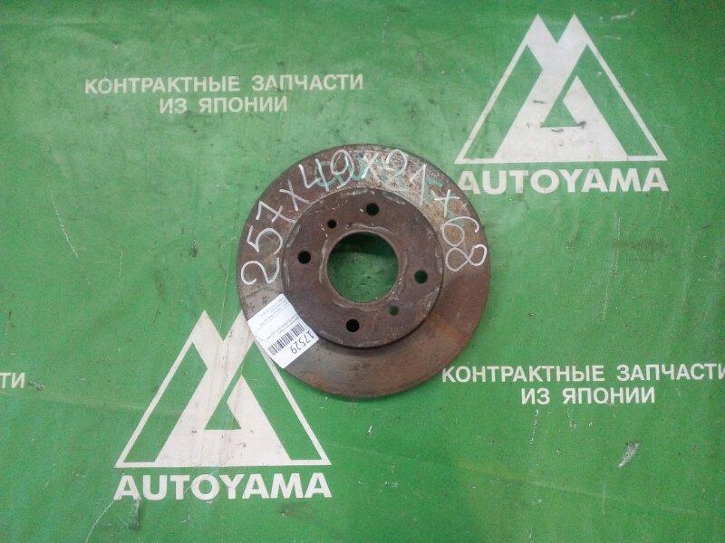 Тормозной диск Nissan Bluebird QU14 QG18DE передний (б/у)