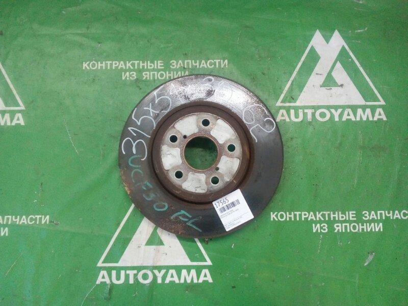 Тормозной диск Toyota Celsior UCF30 3UZFE передний (б/у)