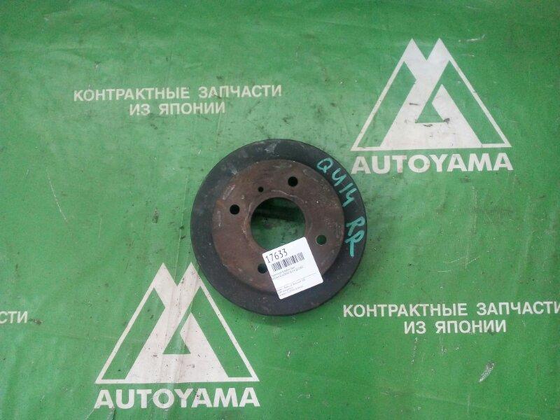 Тормозной барабан Nissan Bluebird QU14 QG18DE задний (б/у)