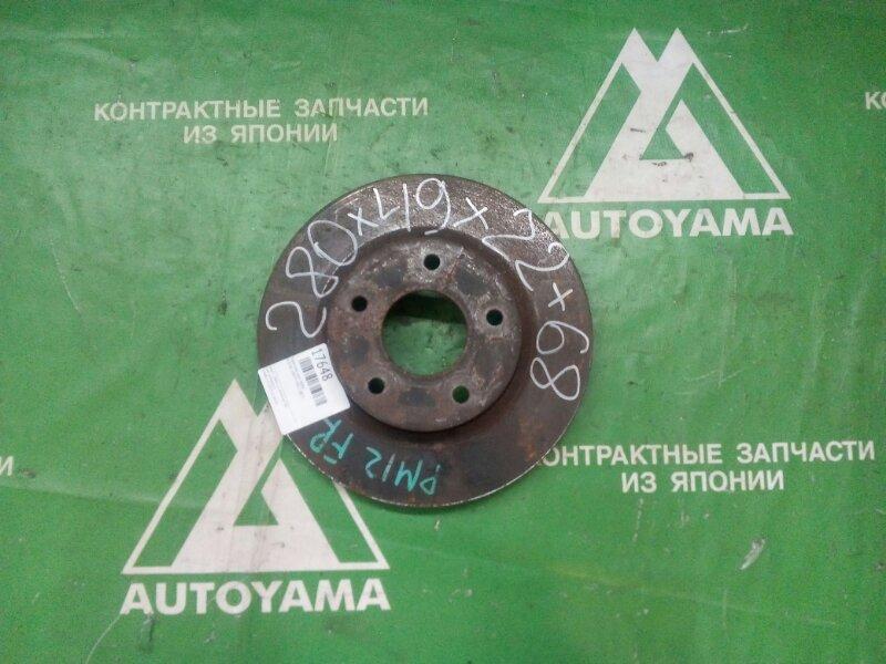 Тормозной диск Nissan Liberty PM12 QR20 передний (б/у)