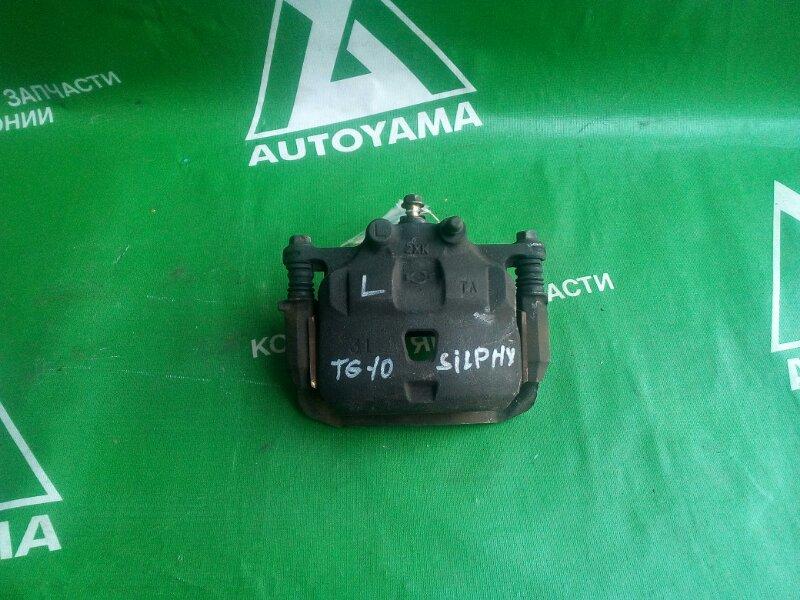 Суппорт Nissan Bluebird Sylphy TG10 QG15 передний левый (б/у)