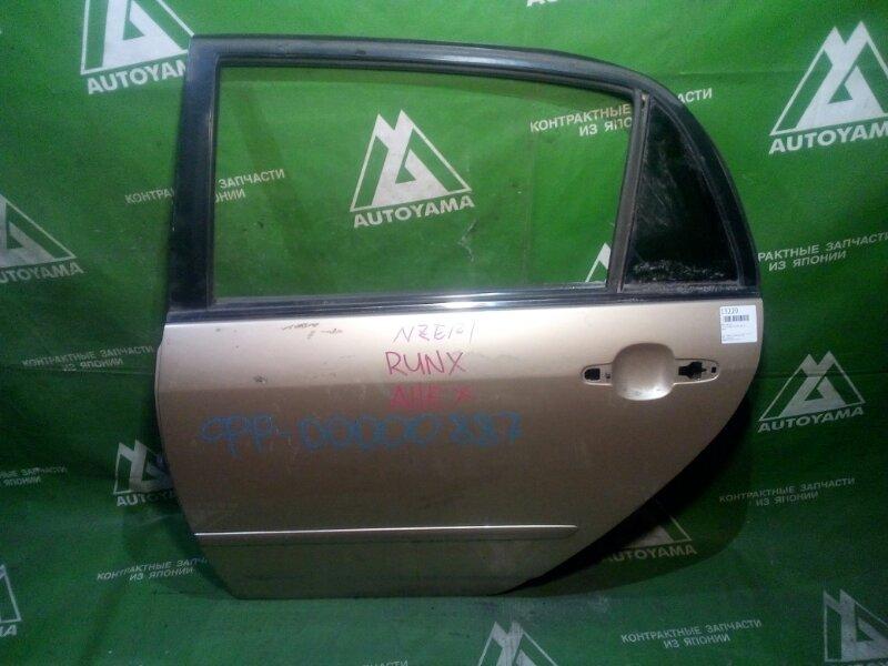 Дверь Toyota Corolla Runx NZE120 задняя левая (б/у)