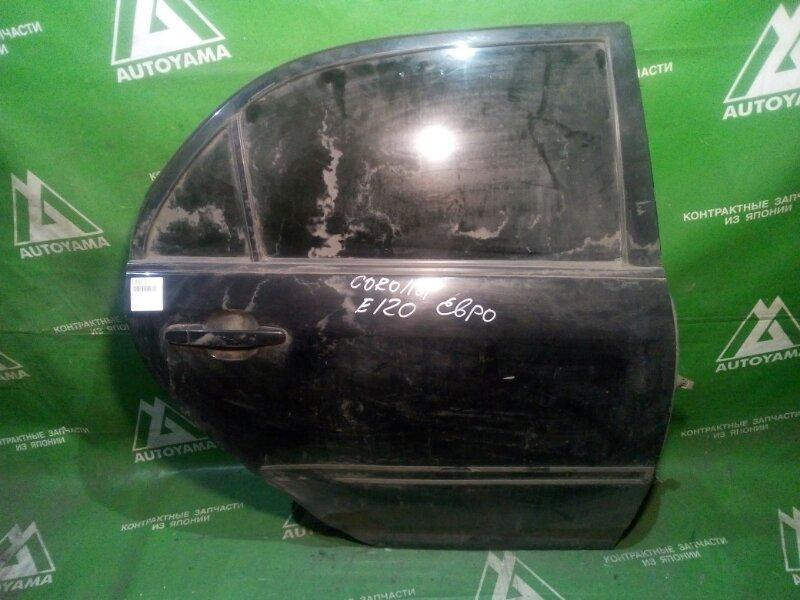 Дверь Toyota Corolla ZZE120 задняя правая (б/у)