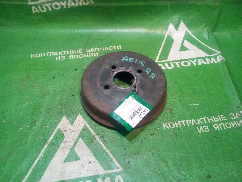 Тормозной барабан Toyota Sprinter Carib AE115 7AFE 1997 задний (б/у)