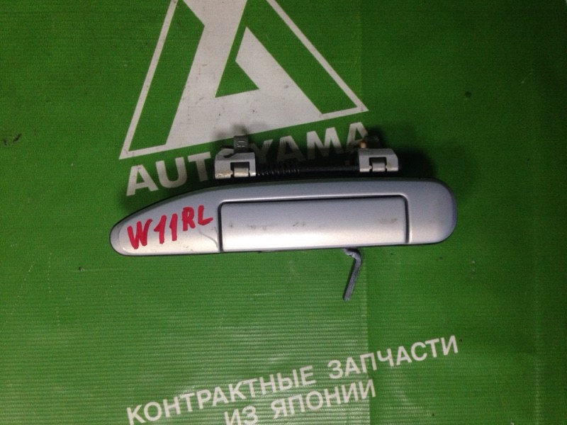 Ручка двери внешняя Nissan Avenir W11 QG15 задняя левая (б/у)