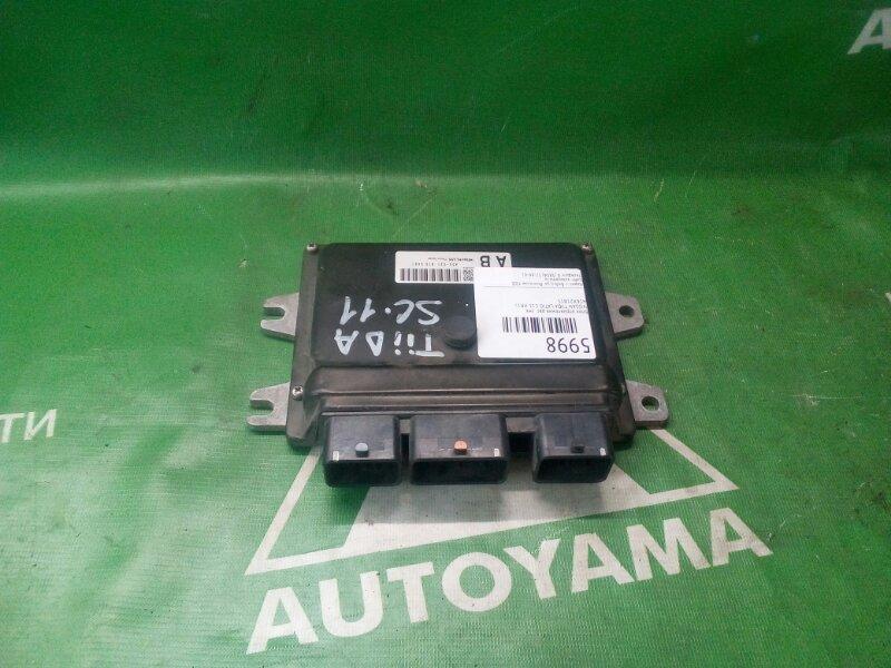 Блок управления двс Nissan Tiida Latio C11 HR15 левый (б/у)