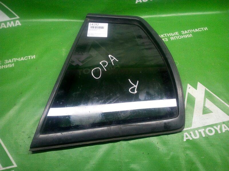 Стекло собачника Toyota Opa ACT10 заднее правое (б/у)