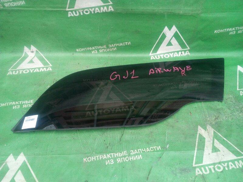 Стекло собачника Honda Airwave GJ2 заднее правое (б/у)