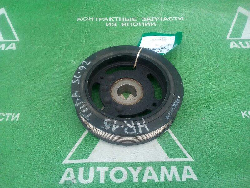 Шкив коленвала Nissan Tiida C11 HR15 (б/у)