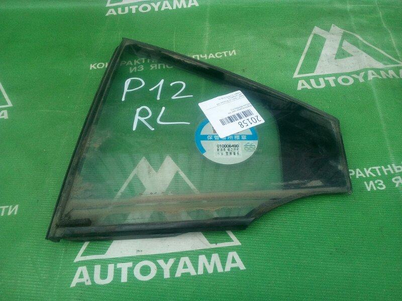 Форточка двери Nissan Primera P12 задняя левая (б/у)