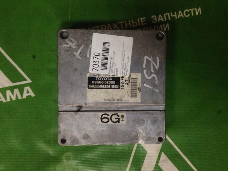 Блок управления двс Toyota Platz SCP10 1SZFE (б/у)