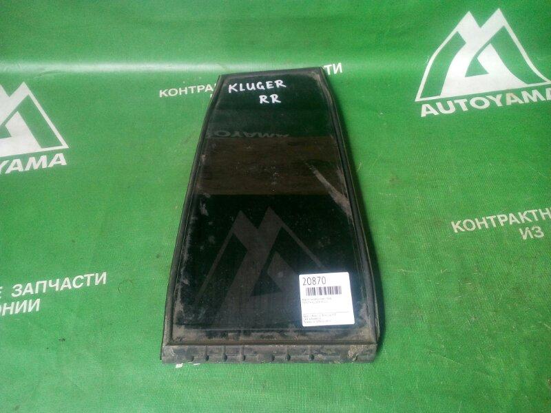 Форточка двери Toyota Kluger ACU20 задняя правая (б/у)