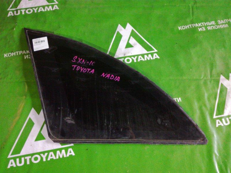 Стекло собачника Toyota Nadia SXM10 заднее левое (б/у)