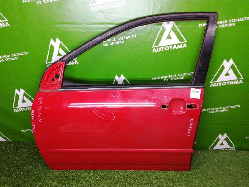 Дверь Toyota Allex NZE121 1NZFE 2001 передняя левая (б/у)