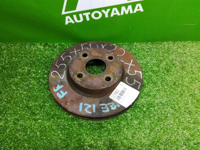 Тормозной диск Toyota Allex NZE121 1NZFE 2001 передний (б/у)