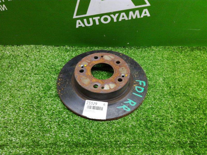 Тормозной диск Honda Civic FD1 R18A задний (б/у)
