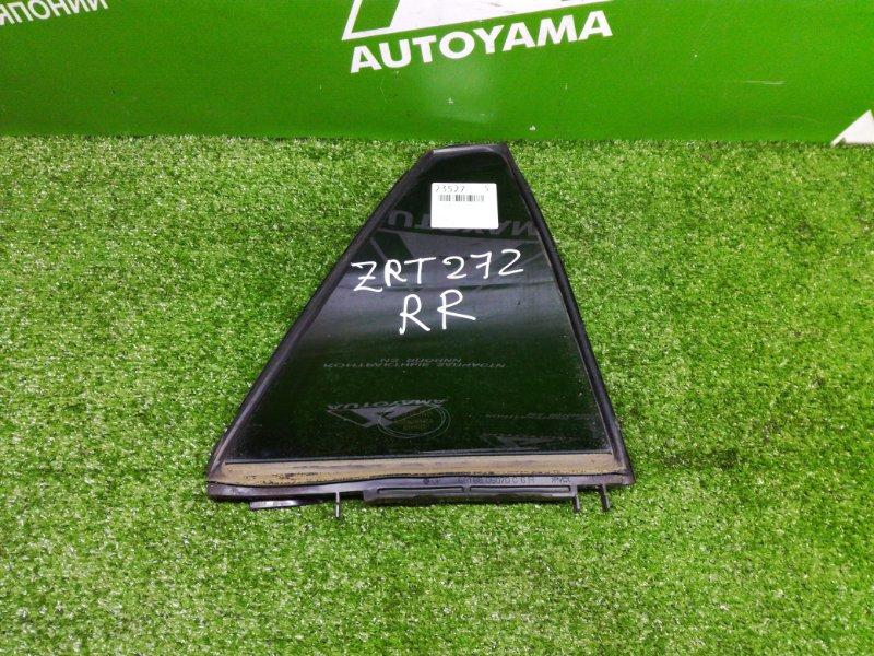 Форточка двери Toyota Avensis ZRT272 3ZRFAE 2011 задняя правая (б/у)