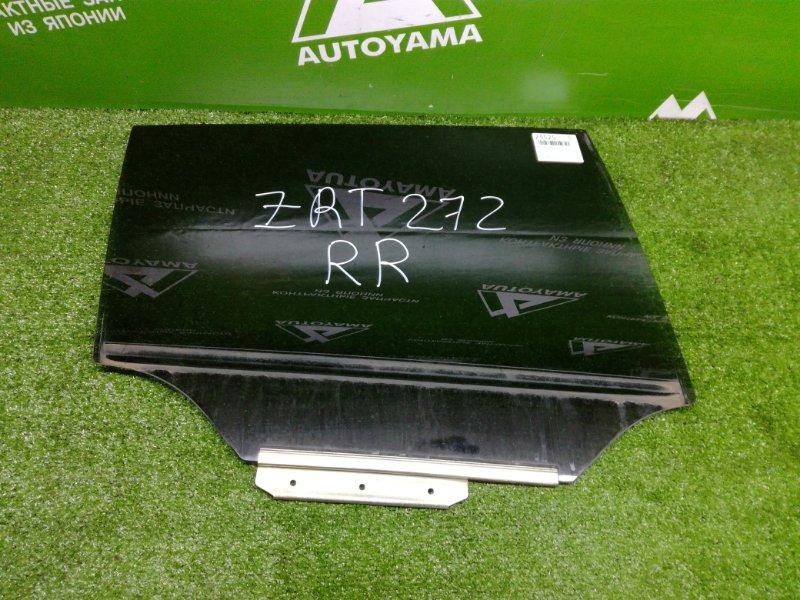 Стекло Toyota Avensis ZRT272 3ZRFAE 2011 заднее правое (б/у)