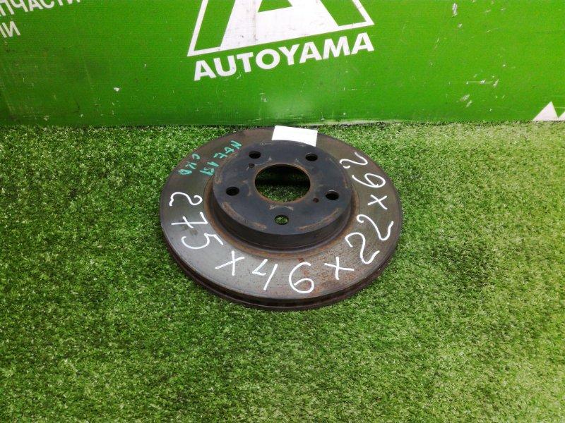 Тормозной диск Toyota Auris NZE151 1NZFE 2011 передний (б/у)