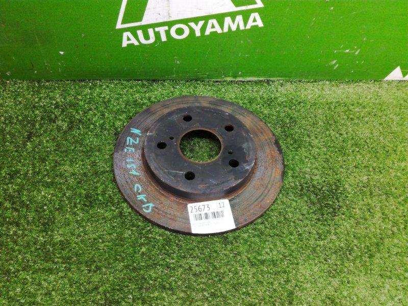 Тормозной диск Toyota Auris NZE151 1NZFE 2011 задний (б/у)