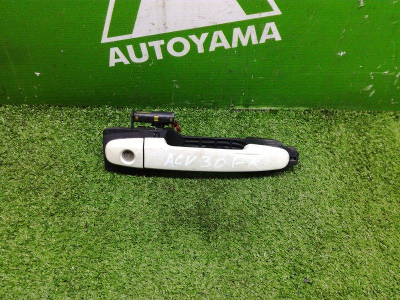 Ручка двери внешняя Toyota Camry ACV30 2AZFE передняя правая (б/у)