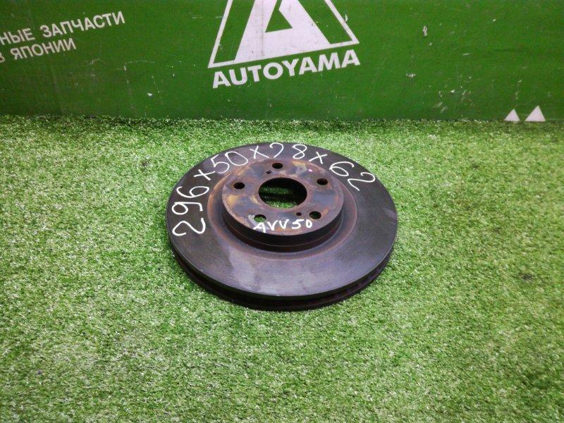 Тормозной диск Toyota Camry AVV50 2ARFXE 2012 передний (б/у)