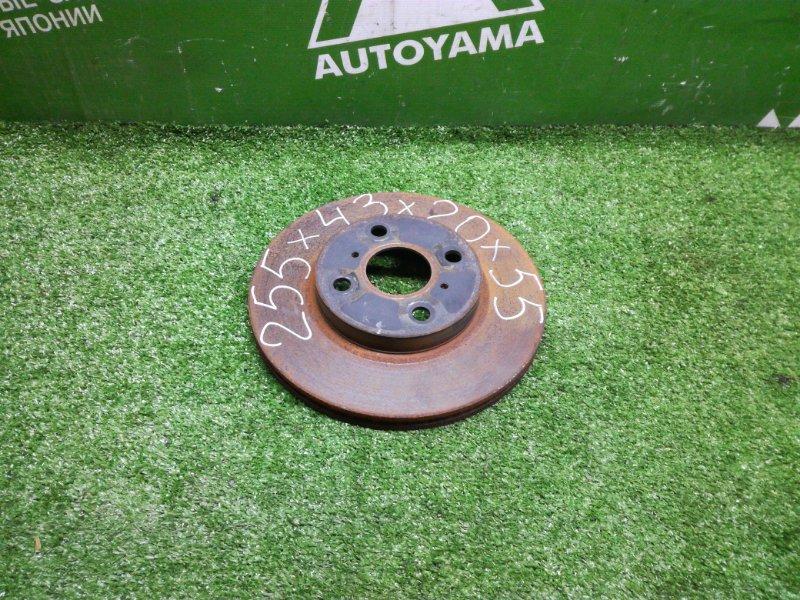 Тормозной диск Toyota Ist NCP61 1NZFE 2005 передний (б/у)