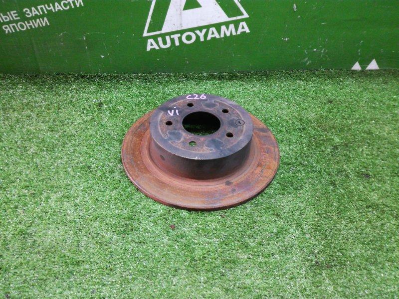 Тормозной диск Nissan Serena C26 MR20DD задний (б/у)