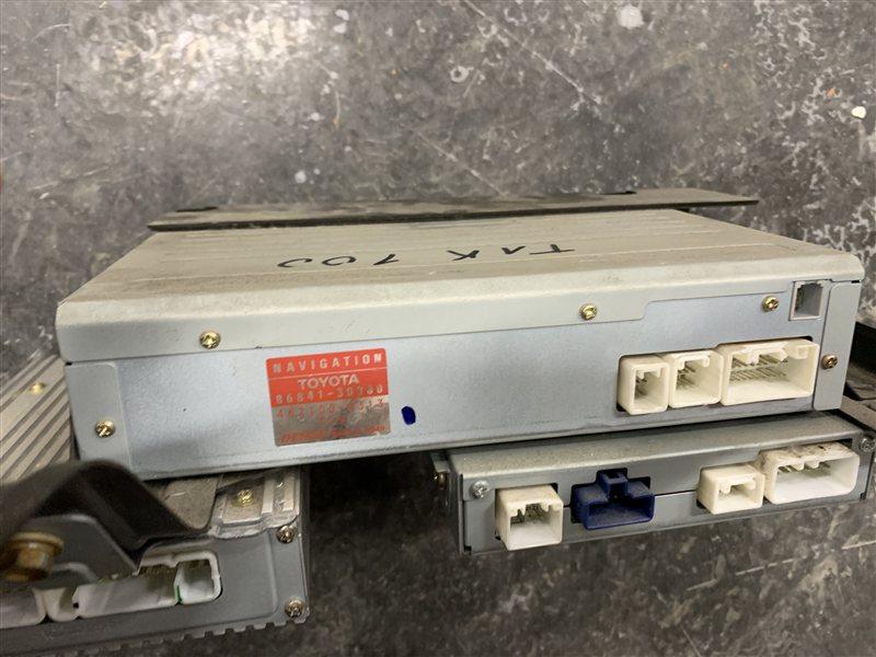 Блок управления навигацией Toyota Land Cruiser 100 UZJ100 2UZ-FE 2002 (б/у)