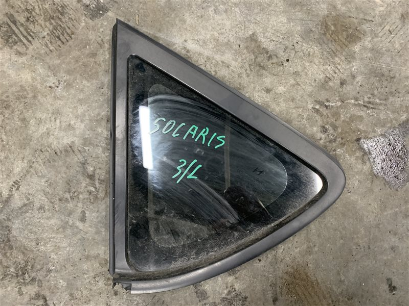 Стекло кузовное глухое Hyundai Solaris RB G4FC 2011 заднее левое (б/у)