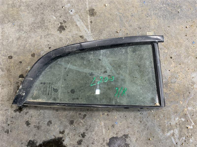 Форточка двери Mitsubishi L200 Kb4T KB4T 4D56 2014 задняя правая (б/у)