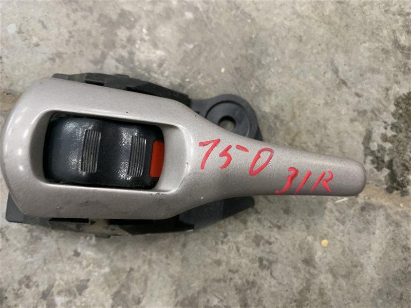 Ручка двери внутренняя Toyota Corolla E150 E150 1ZR-FE 2008 задняя правая (б/у)