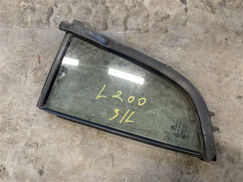 Форточка двери Mitsubishi L200 Kb4T KB4T 4D56 2011 задняя левая (б/у)