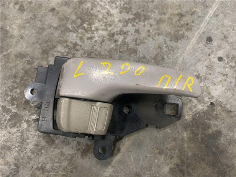 Ручка двери внутренняя Mitsubishi L200 Kb4T KB4T 4D56 2011 передняя правая (б/у)