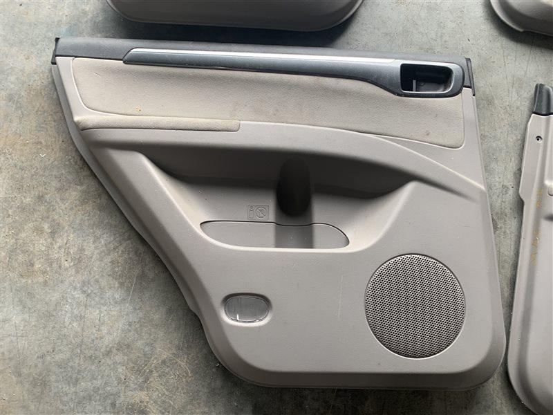 Обшивка двери Mitsubishi Pajero Sport Kh0 KH0 4D56 2014 задняя левая (б/у)
